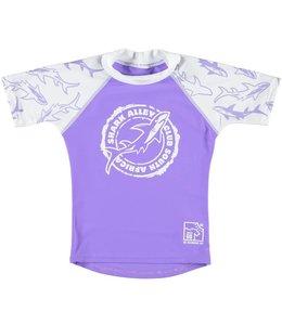 UV Zwemshirt meisje Shark Alley Paars -Sonpakkie