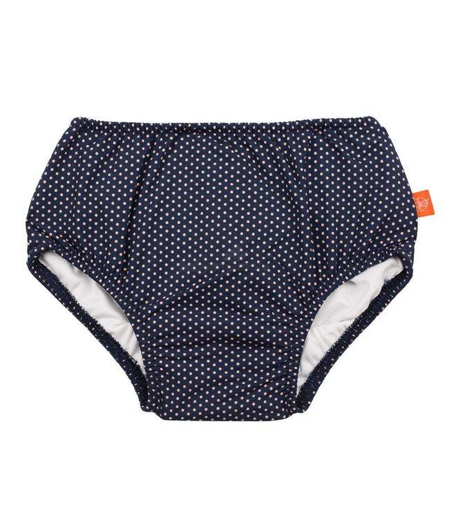 Zwemluier blauw wit stippen - Lässig