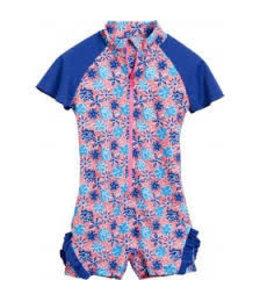Zwempakje Baby Bloemen Blauw Ruches - Playshoes