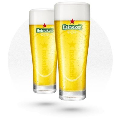 LOT DE 6 VERRES HEINEKEN ELLIPSE
