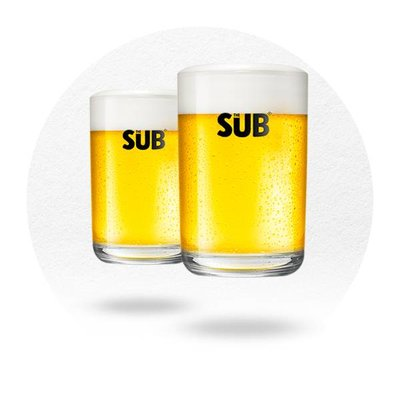 LOT DE 2 VERRES THE SUB, BY MARC NEWSON