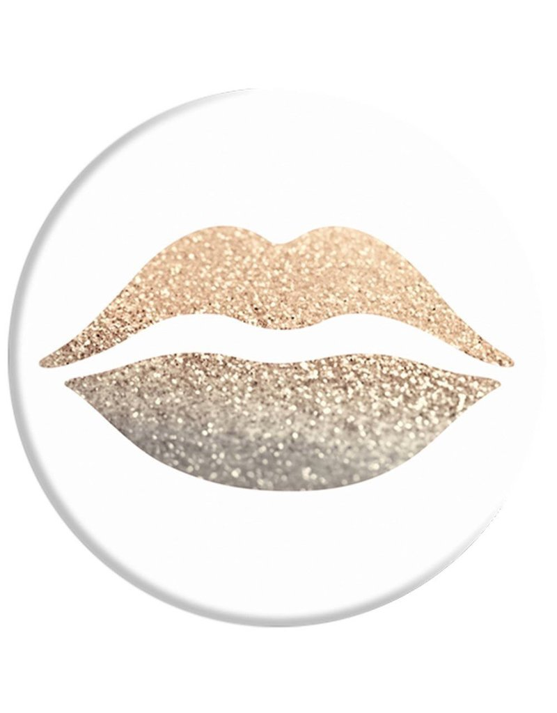 PopSockets PopSockets Device Stand and Grip - Gold Lips