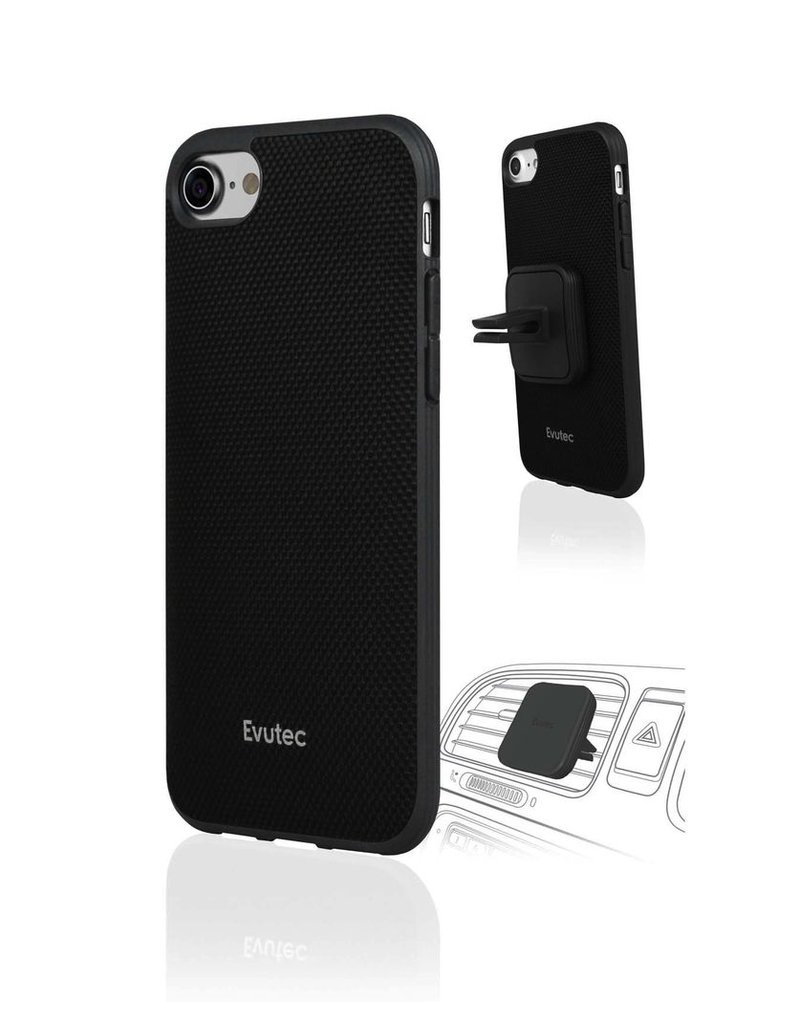 Evutec Evutec Aergo Series Ballistic Nylon for iPhone 7/8 (AFIX Included) - Black (It Won't Support Wireless Charging)