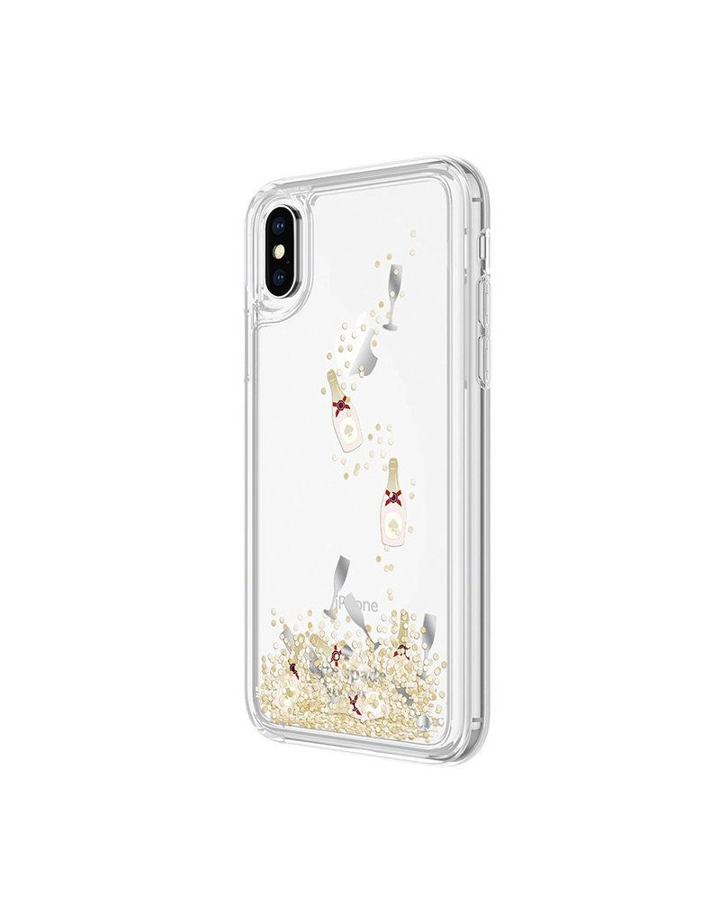 Incipio Incipio Apple iPhone X Kate Spade New York Liquid Glitter Case Champagne - Stars Clear/Gold/Silver