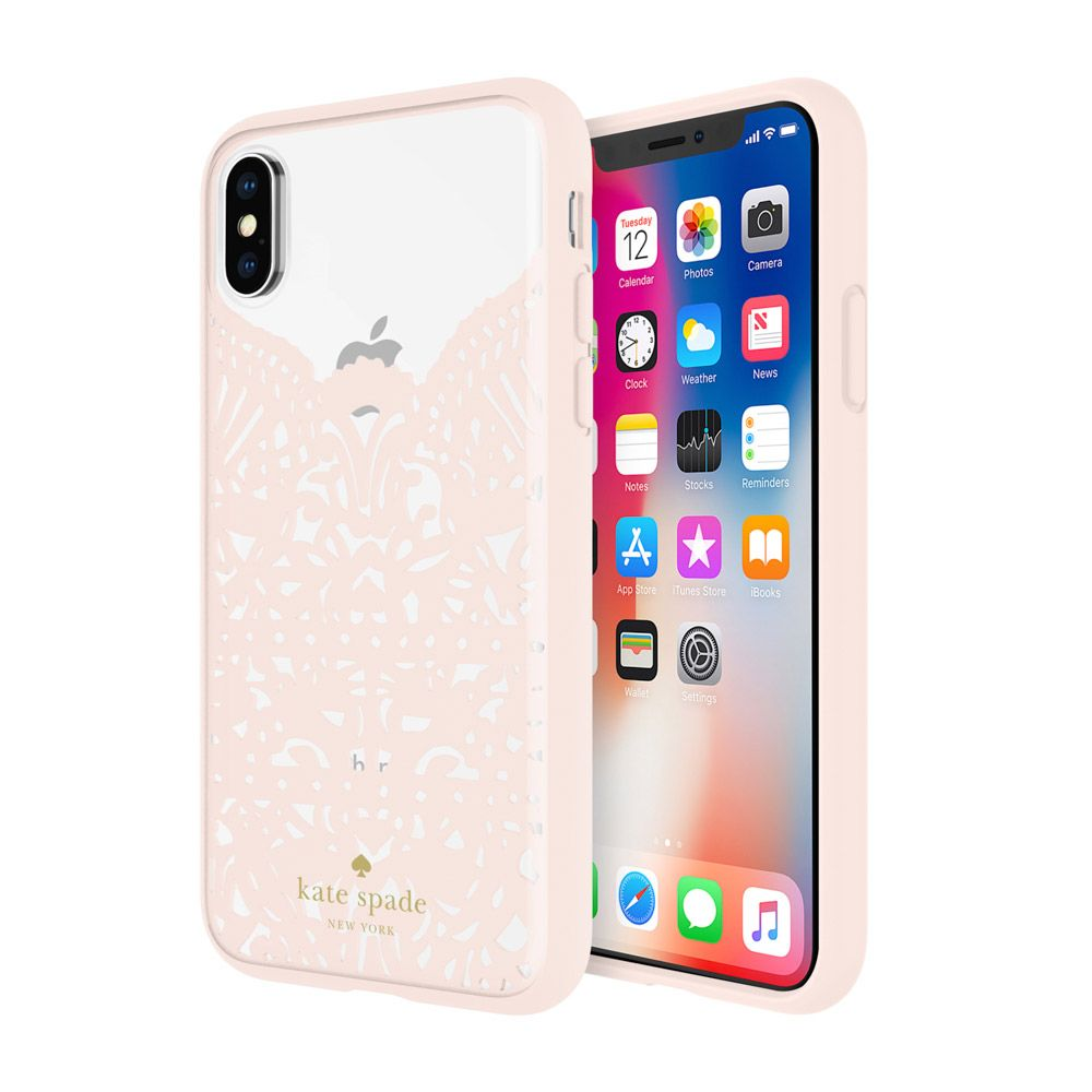 best sneakers fe0f4 1603b Incipio INCIPIO APPLE IPHONE X KATE SPADE NEW YORK LACE CAGE CASE - LACE  HUMMINGBIRD BLUSH AND CLEAR