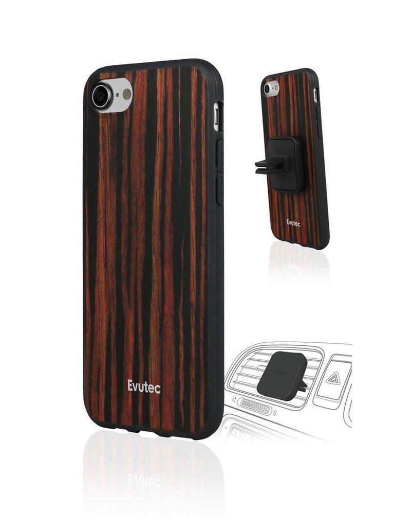 Evutec Evutec Aer Wood Series for IPhone 7/8 (AFIX Included) - Ebony Wood (It Won't Support Wireless Charging)