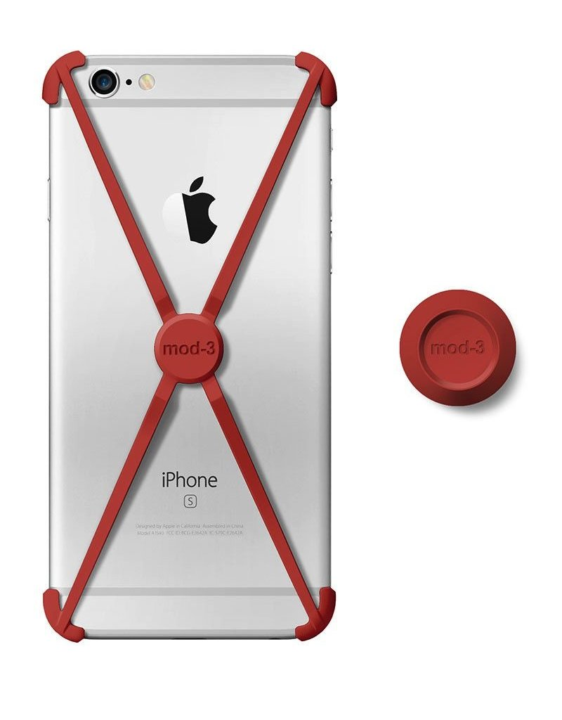 Mod-3 Mod-3 alt case for iPhone 6/6s - Red  X-core Technology – Advanced Protection with wall Mount.