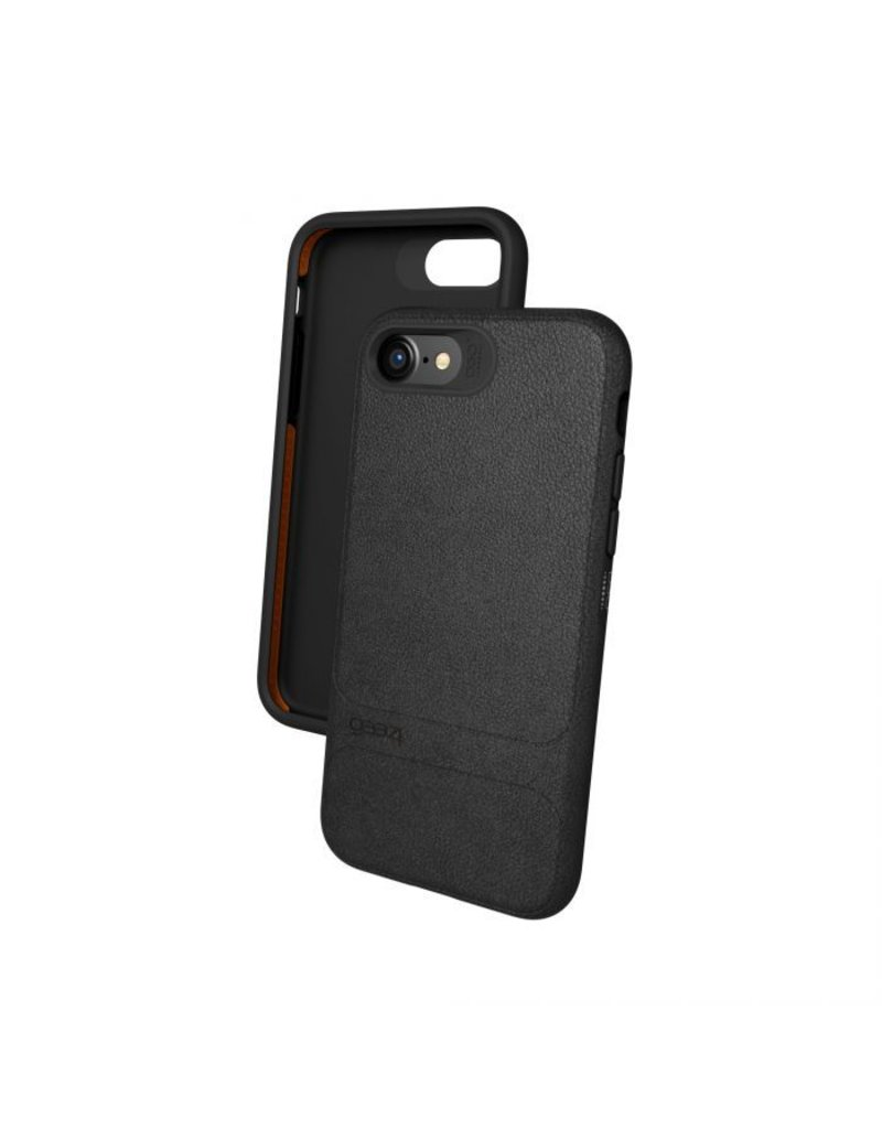 Gear4 Gear4 Mayfair Leather Protection Case for iPhone 7/8 - Black