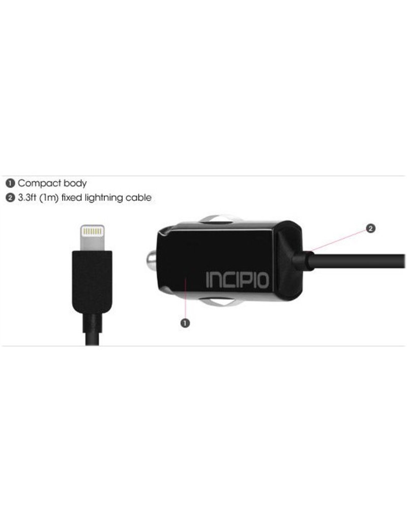 Incipio Incipio Ultra Compact Car Charger With Lightning Cable 2.1A