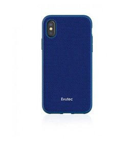 Evutec Evutec Ballistic Nylon Aergo Series Case With Afix for iPhone X - Blue