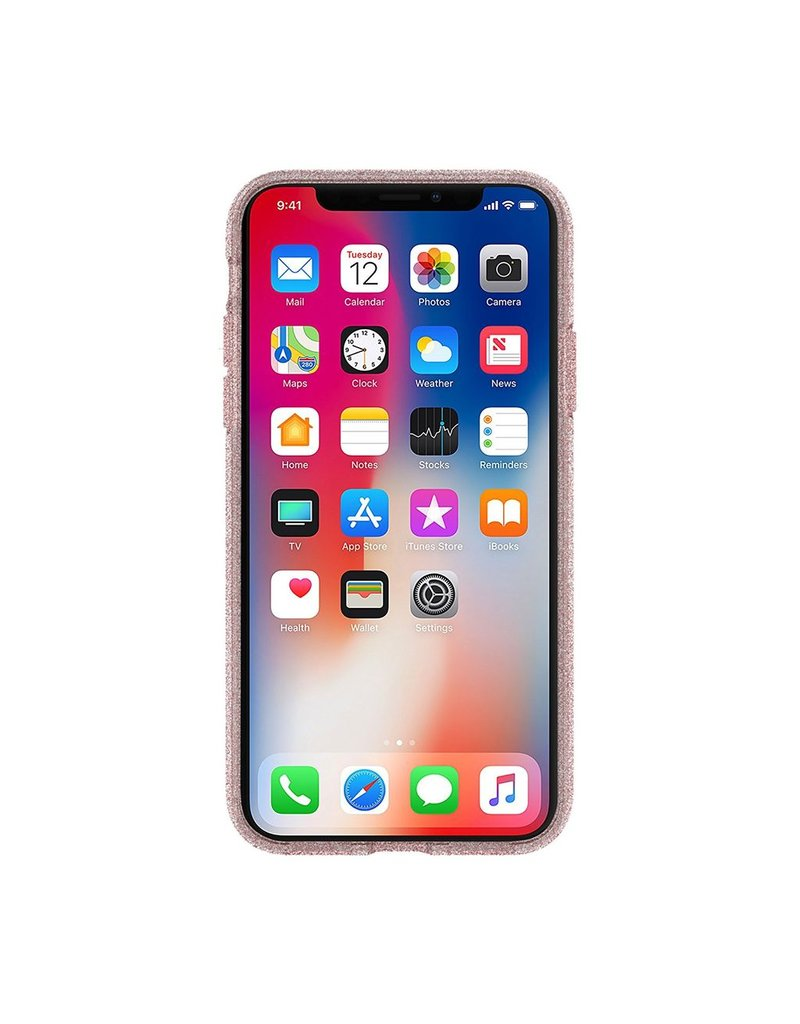 Incipio INCIPIO APPLE IPHONE X KATE SPADE NEW YORK FLEXIBLE GLITTER CASE - ROSE GOLD