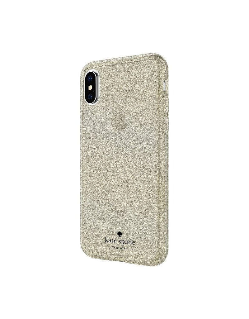 Incipio INCIPIO APPLE IPHONE X KATE SPADE NEW YORK FLEXIBLE GLITTER CASE - GOLD
