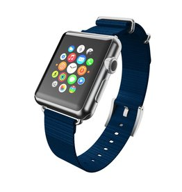 Incipio INCIPIO APPLE WATCH 42/44MM NATO STYLE WOVEN NYLON WATCHBAND - NAVY WITH SILVER BUCKLE