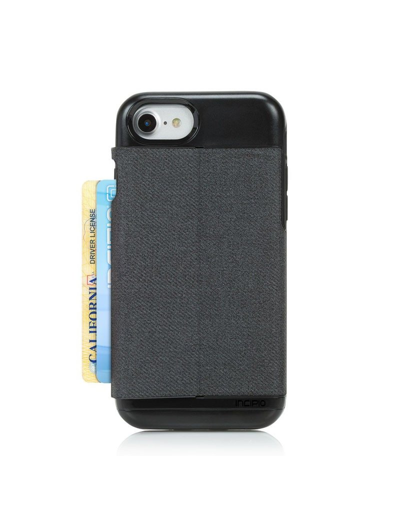 Incipio Incipio Wallet Case Esquire Series for iPhone 7/8/SE - Heather Dark Gray