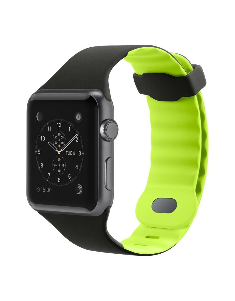 Belkin BELKIN APPLE WATCH 42/44MM SPORTS WRISTBAND - BLACKTOP FLASH (BLACK AND LIME)
