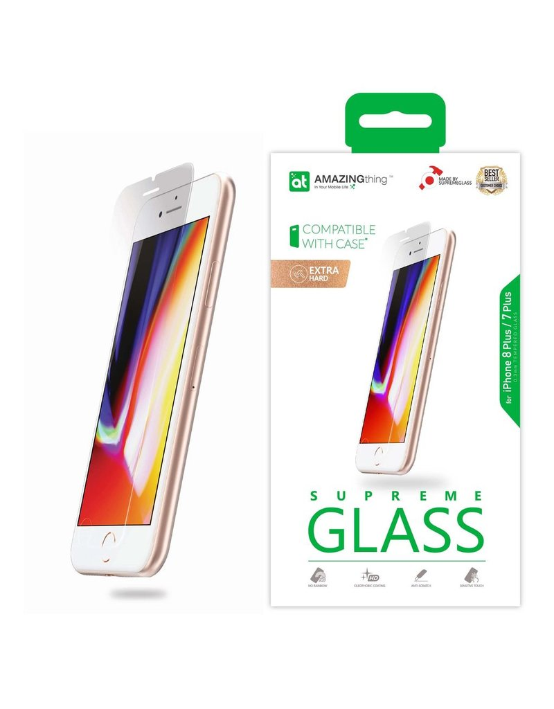 AMAZINGthing AT IPHONE 7/8 PLUS 0.3MM SUPREME GLASS (CRYSTAL)