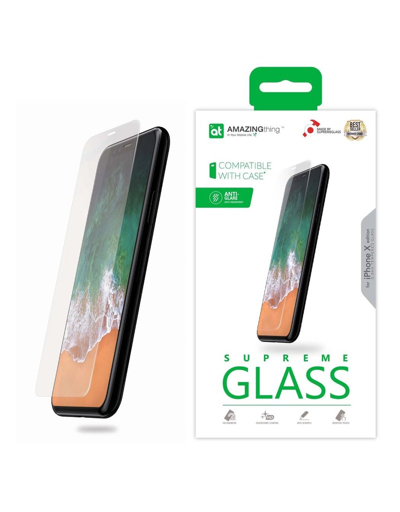 AMAZINGthing AT IPHONE X 0.3MM ANTI-GLARE SUPREME GLASS (MATTE)