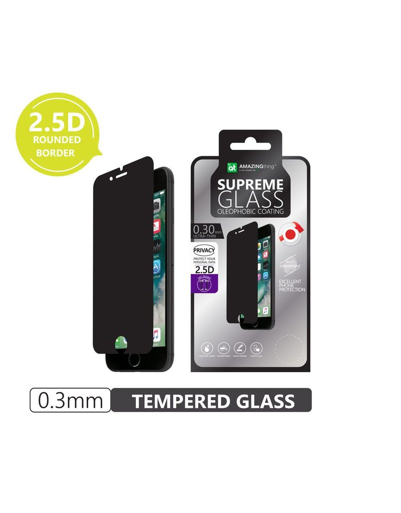 AMAZINGthing AT Apple iPhone 7/8 Plus 0.3mm 180 Privacy SupremeGlass