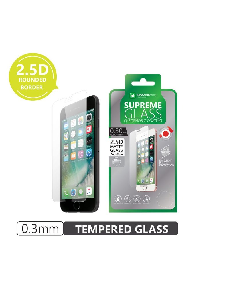 AMAZINGthing AT iPhone 7/8 0.3mm Matte SupremeGlass (With Crystal Clear Edges)