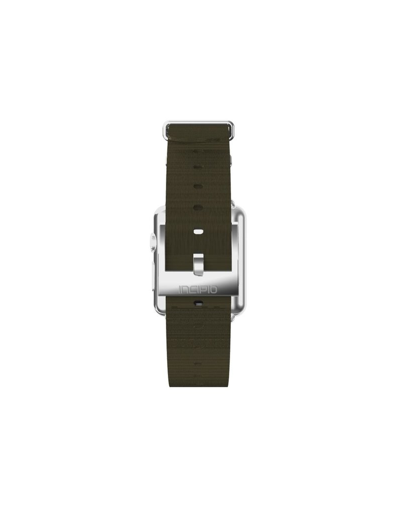 Incipio INCIPIO APPLE WATCH 42/44MM NATO STYLE WOVEN NYLON WATCHBAND - GREEN WITH SILVER BUCKLE
