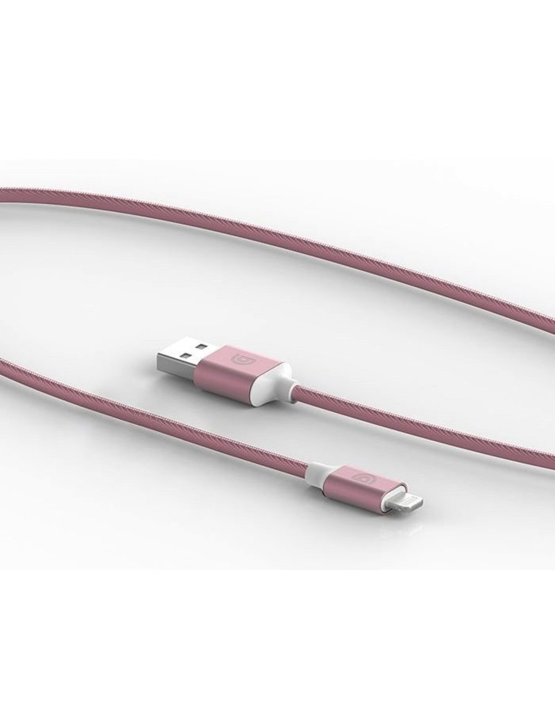 Griffin GRIFFIN USB TO LIGHTNING USB PREMIUM BRAIDED CHARGE+SYNC CABLE (5ft/1.5m) - ROSE GOLD