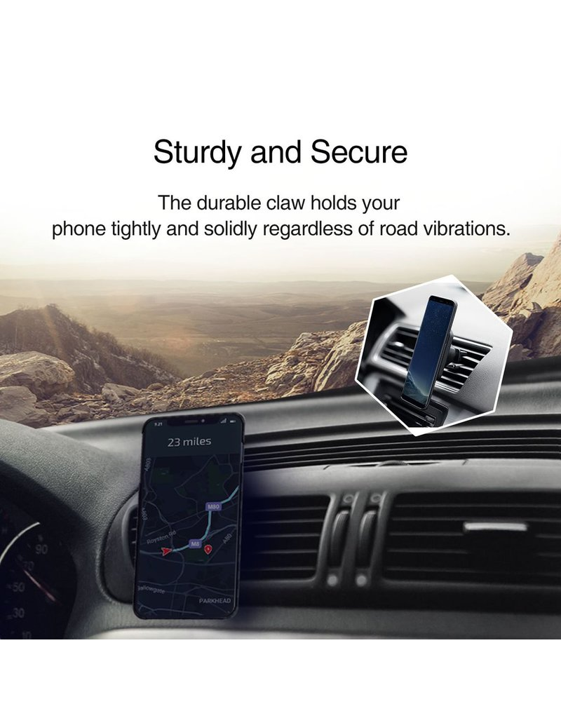 Pitaka Pitaka Magnetic Mount Qi Wirelessly Charges - Car Vent