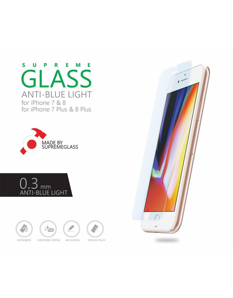 AMAZINGthing AT IPHONE 7/8 0.3MM ANTI-BLUE LIGHT SUPREME GLASS