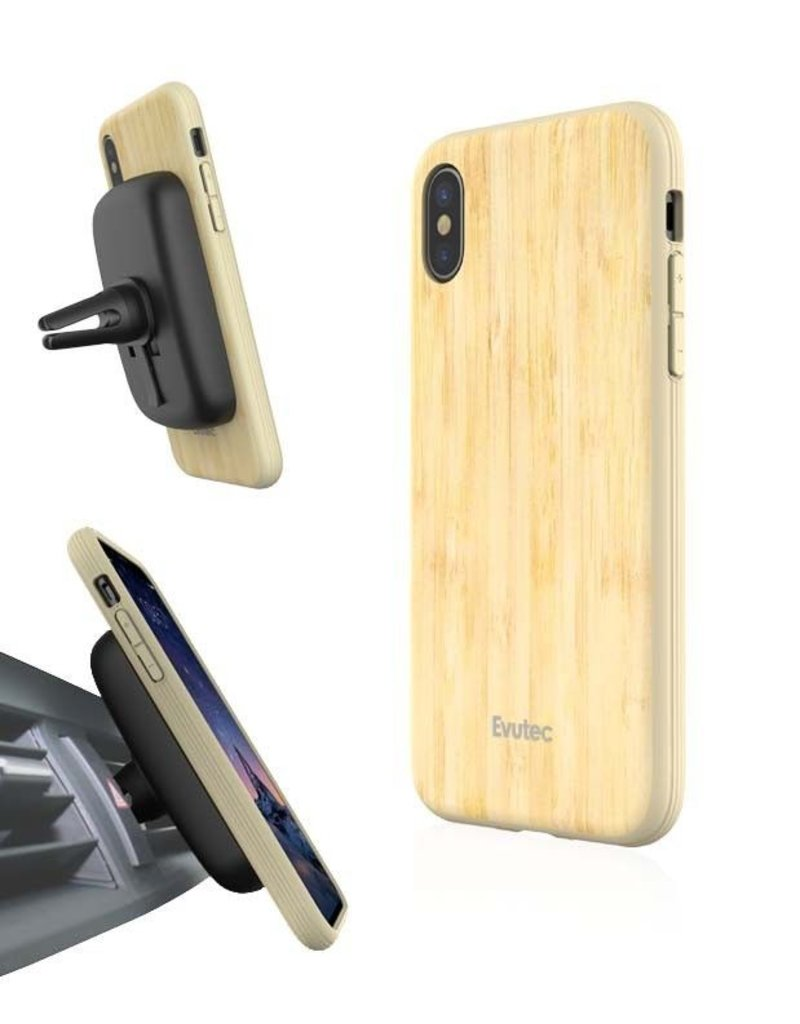 Evutec Evutec Aer Wood Series With Afix Case for iPhone X - Bamboo