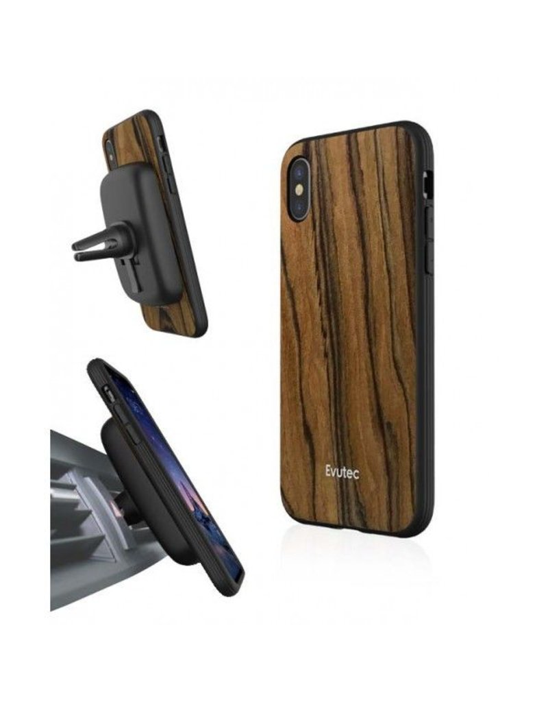 Evutec Evutec Aer Wood Series With Afix Case for iPhone X - Rosewood