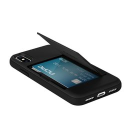Incipio INCIPIO STOWAWAY CREDIT CARD CASE WITH INTEGRATED STAND FOR IPHONE X - BLACK