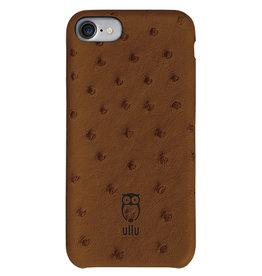 Ullu Ullu SnapOn Ostrich Leather Case For iPhone 7/8/SE - Milk Chocolate
