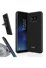 Evutec Evutec Aergo Series Ballistic Nylon Case With Afix Vent Mount For Samsung Galaxy S8 - Black