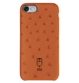 Ullu Ullu SnapOn Ostrich Leather Case For iPhone 7/8/SE - Tangerine