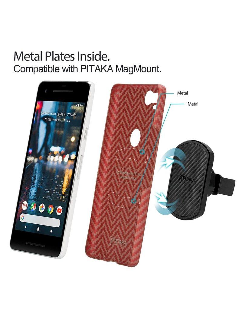 Pitaka Pitaka Aramid Case for Google Pixel 2 - Red/Orange Twill