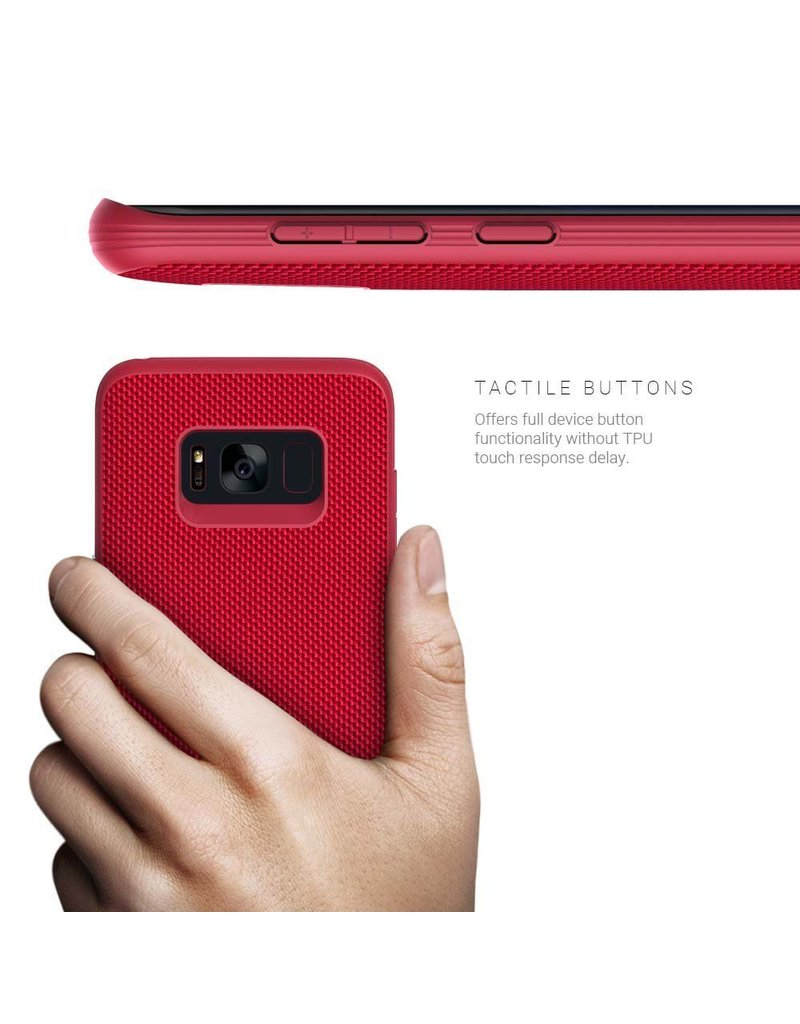 Evutec Evutec Aergo Series Ballistic Nylon Case For Samsung Galaxy S8 - Red