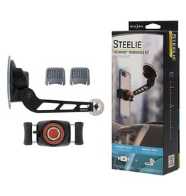 Nite Ize Nite Ize Steelie Magnetic FreeMount Windshield Mount Kit - Silver and Black