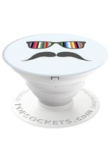 PopSockets POPSOCKETS DEVICE STAND AND GRIP - RAINBOW MUSTACHE