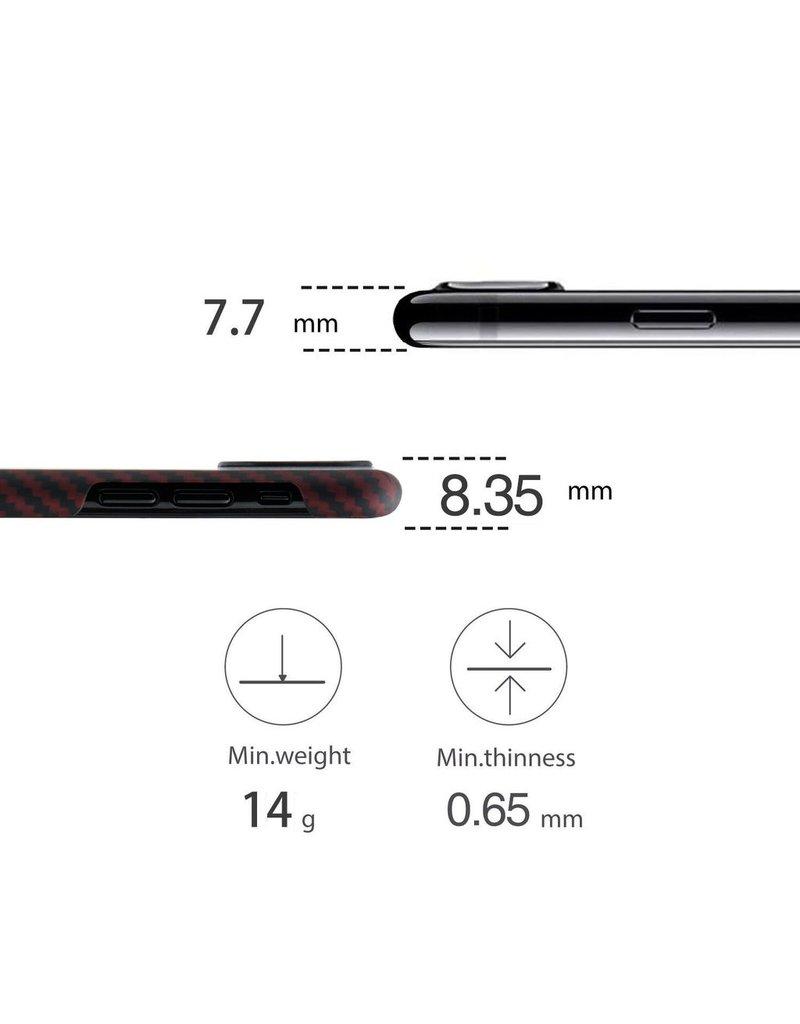 Pitaka Pitaka Aramid Case for iPhone X - Black/Red Twill