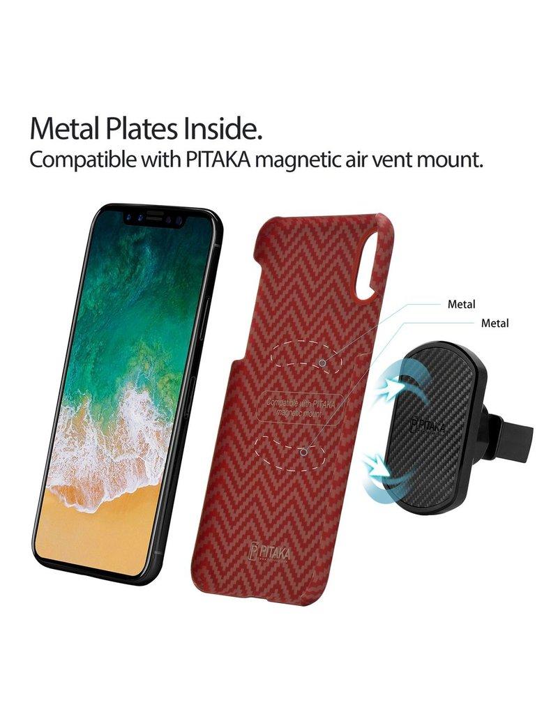 Pitaka Pitaka Aramid Case for iPhone X - Red/Orange