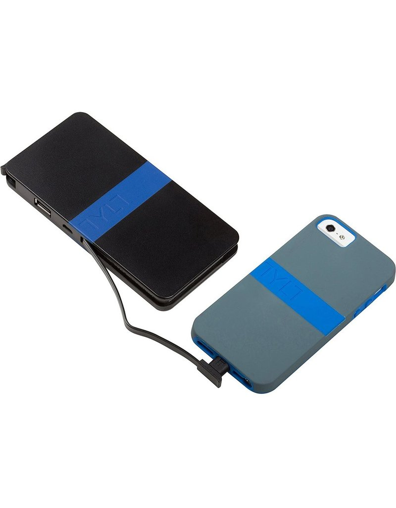 TYLT Tylt Energi 5K+ Battery Pack with Built-In Lightning and Micro-USB Cables 5200mAh - Blue