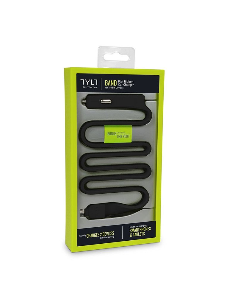 TYLT TYLT BAND 2.1A CAR CHARGER WITH MICRO USB CABLE - BLACK