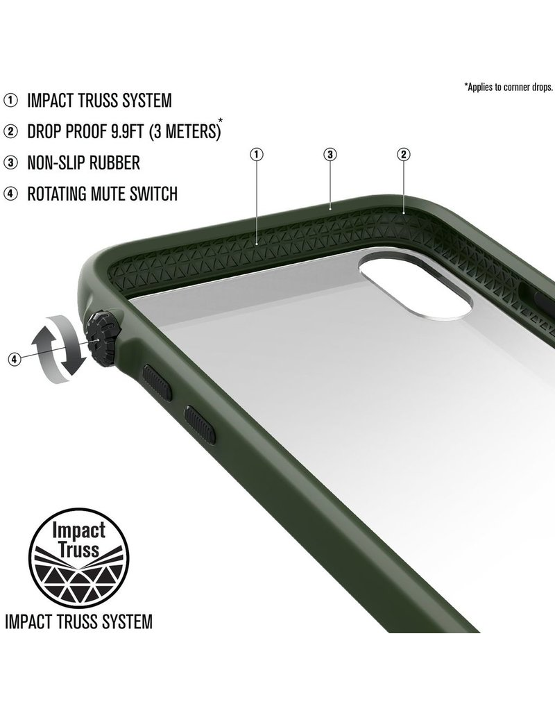 Catalyst Catalyst Impact Protection Case for iPhone X/Xs - Army Green