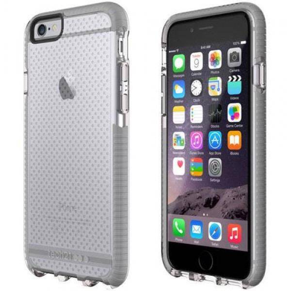 newest 7b93b 8c73d Tech21 Tech21 Evo Mesh Advanced Impact Protection Case for iPhone 6/6S -  Clear/Grey