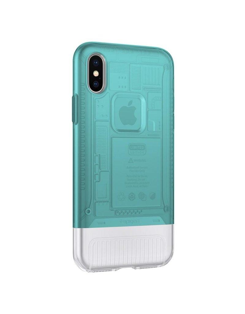 Spigen Spigen iPhone X/Xs Classic C1 Case - Bondi Blue