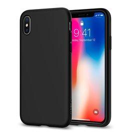 Spigen Spigen iPhone X Liquid Crystal Slim & Soft Case - Mtte Black