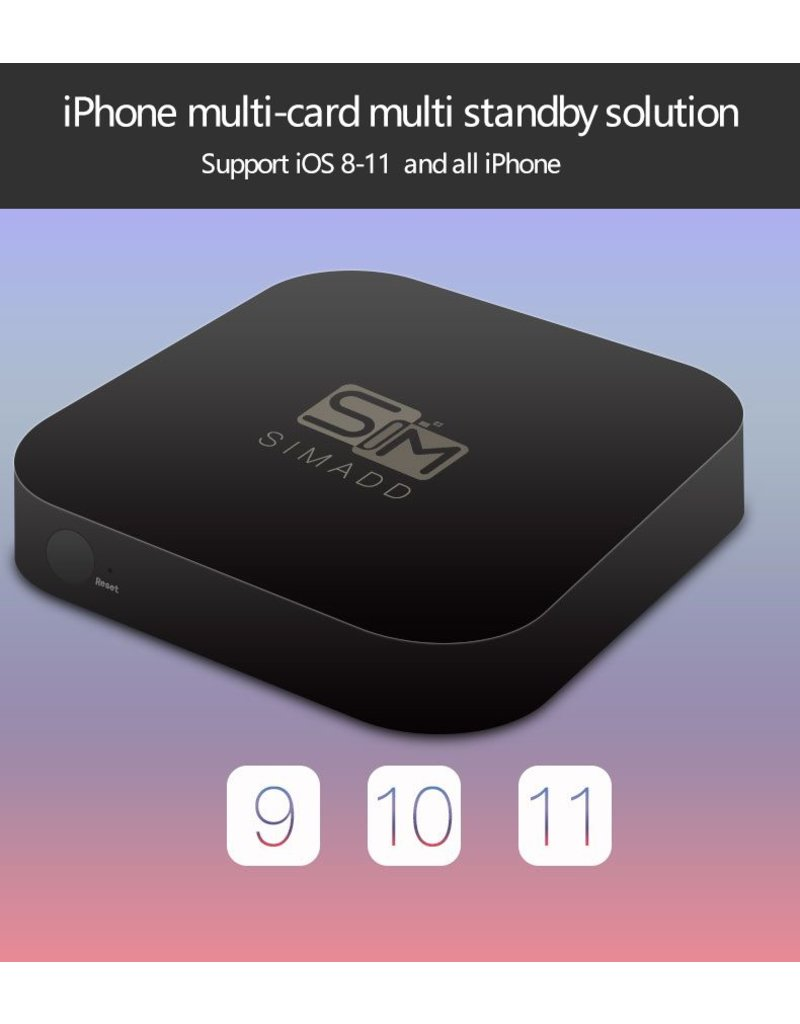 iShere SIM ADD 3 SIM 3 Standby Box for All iPhone Devices