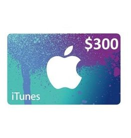 Apple iTunes Gift Card - $300 USA