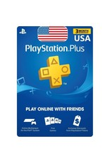 PlayStation PlayStation Plus Card - 3 Month USA