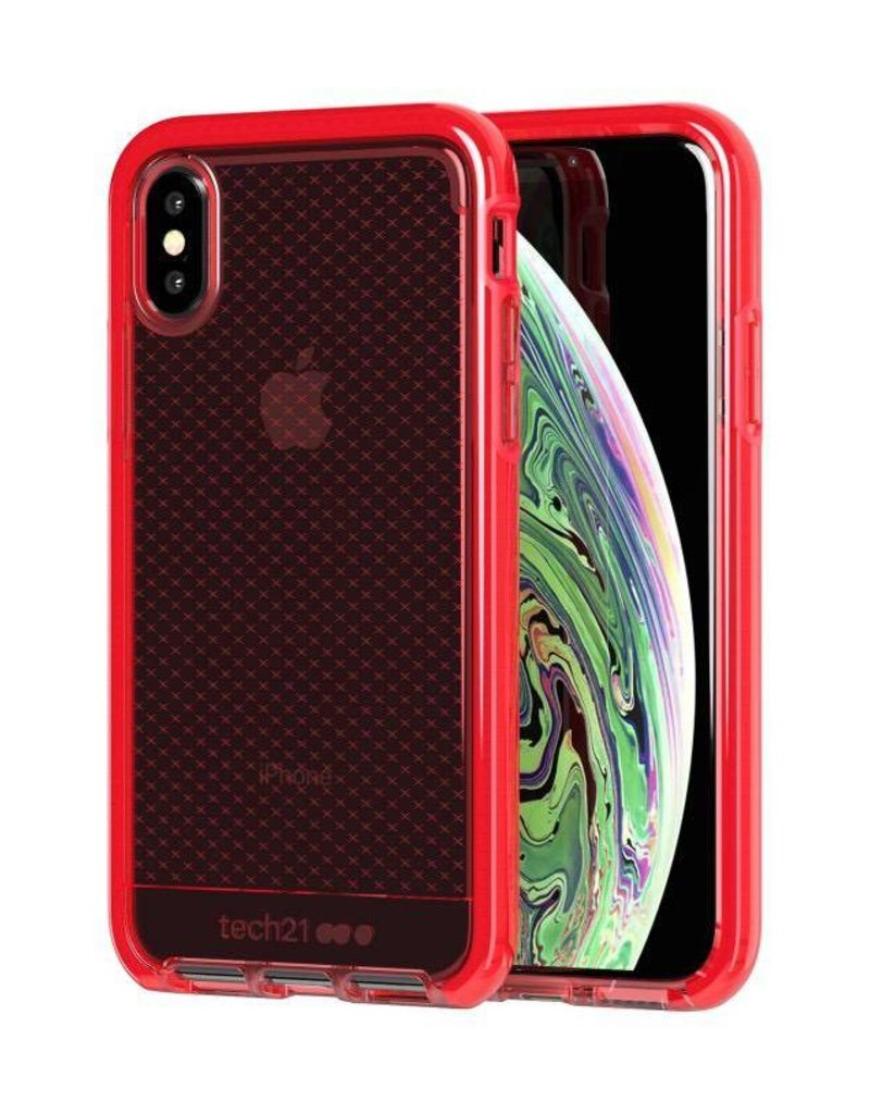 factory authentic cb68f 93ab2 Tech21 Tech21 Evo Check Case for iPhone X/Xs - Bright Rouge