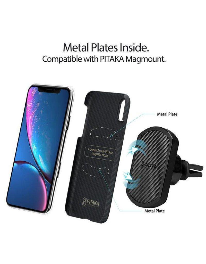 Pitaka Pitaka Aramid MagCase for iPhone Xr - Black/Grey Twill